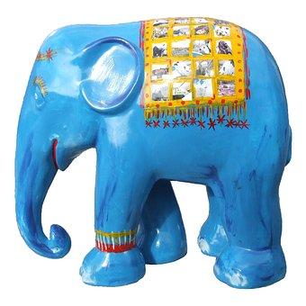 Elephant Parade, Blue Elephant, Trier
