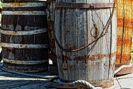 Wooden, Kegs, Ancient, Barrel, Heritage, Wood, Old