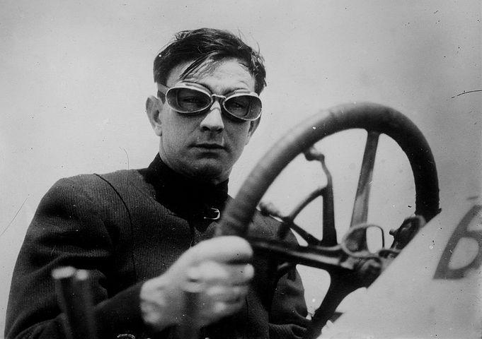 Race Car Driver, Man, 1910, Steering, Wheel, Vintage