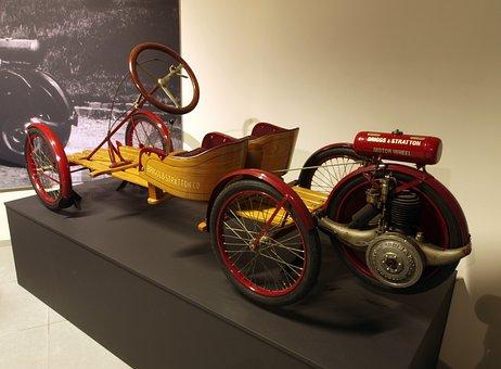 Briggs And Stratton Flyer, 1920, Car, Automobile