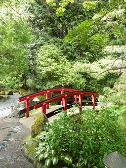 Bridge, Park, Japanese Investment, Island, Red Railing