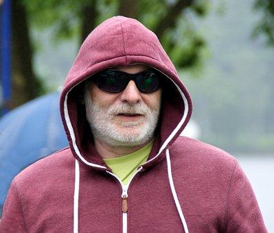 Man, Jacket, Cap, Cold, Rain, Glasses, Walter, Wanderer