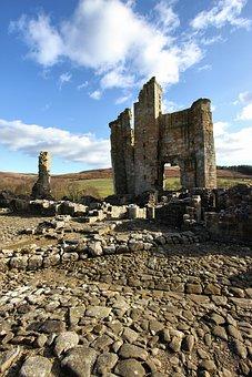Castle, Edlingham, Ruin, Derelict, England