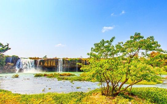 Waterfall, Dray, Nur, Dak, Lak, Write, Male