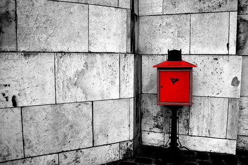 Esztergom, Basilica, Mailbox, Red, Black, White