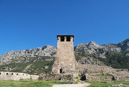 Albania, The Ruins Of The, Fortress, Dre, Tower, Wall