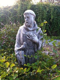 Statue, Garden, Saints, St Francis, Christian, Monument
