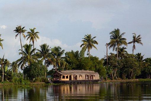 Kerala, India, Houseboat, Backwaters