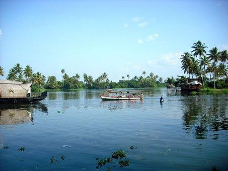 Kerala, South India, Backwaters, Boat, Houseboat, India