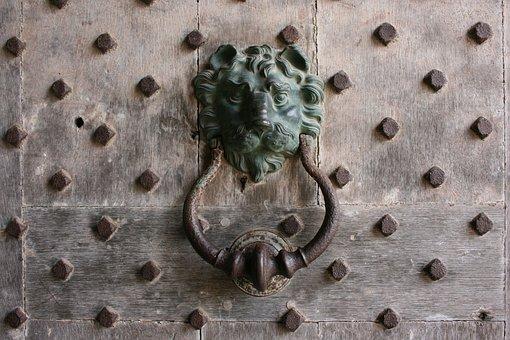 Knocker, Lion, Door, Leeds Castle