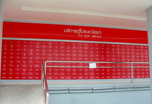 Postbox, Cabinet, Post Office, Laksi, Postal, Red
