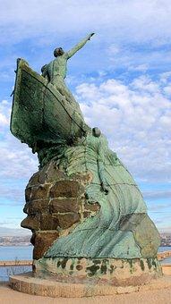 France, Marseille, Statue, Palais, Pharo