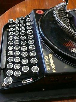 Typewriter, Remington, Portable, 1926, Vintage, Old