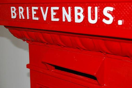 Mailbox, Red, Post, Letters, Slot, Ptt