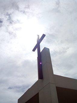 Sky, Cross, Church, Jesus, Faith, Religion, Christ