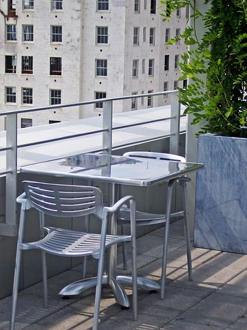 Table, Rooftop, Sitting, Contemporary, Modern, Terrace