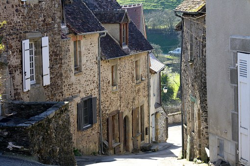 Berry, France, Steep Street