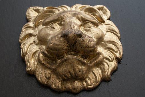 Lion, Ornament, Door, Knocker, Decoration, Sweden