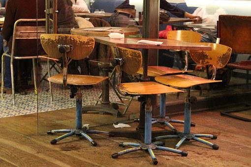 Furniture, Interior Design, Public Place, Chairs, Table