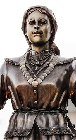 The Lady Of Sotira, Sculpture, Statue, Bronze, Woman