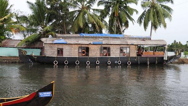Aleppey, Houseboat, Kerala, Backwater, Tourism