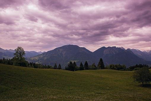 Landscape, Twilight, Weather Mood, Reported, Mountains