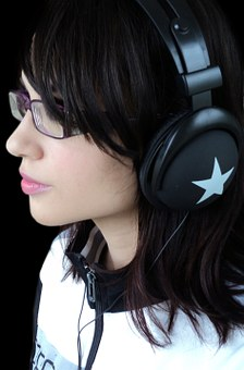 Headphones, Girl, Young, Audiophile, Music, Woman
