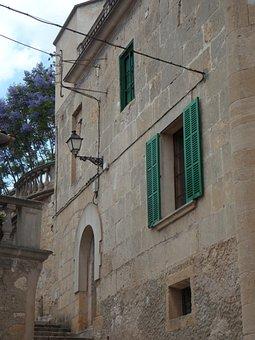 Building, Algaida, Mediterranean, House Facade, Live