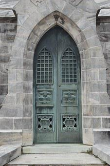 Mausoleum, Door, Old, Cemetery, Building, Architecture