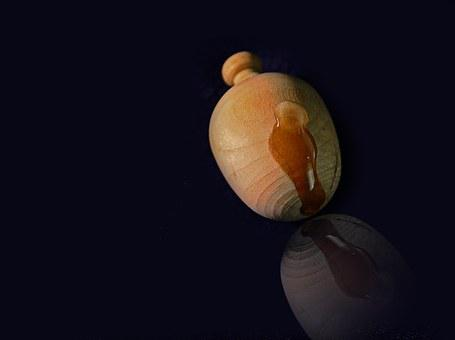Wood, Ball, Wooden Ball, Pomander, Drip, Mirroring