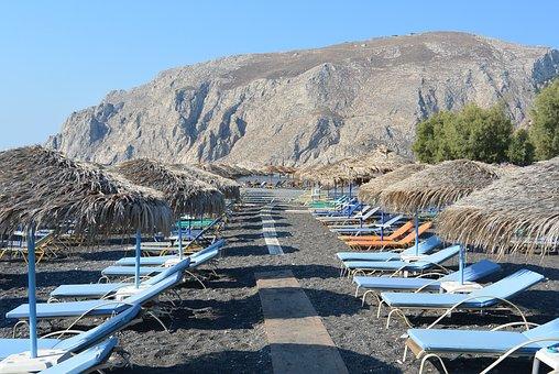Kamari, Santorini, Beach Idyll, Greek Islands, Greece
