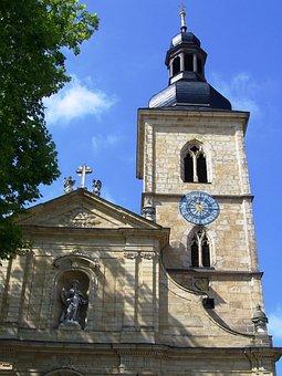 St Jacob's Church, Bamberg, Mainfranken, Sky, Blue