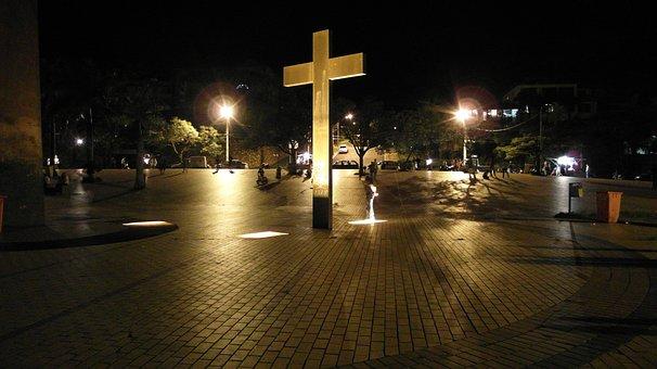 Cross, Mirante Do Mangabeiras, Brazil, Pope, Night