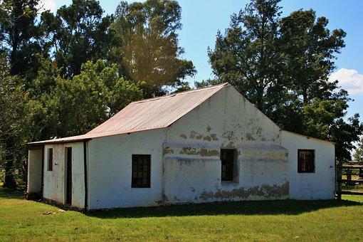Farm Building, Building, Farm, Wall, Whitewashed