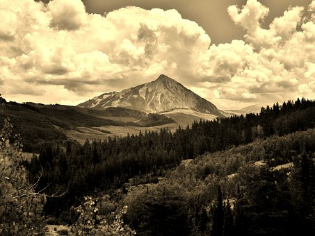 Mountain, Colorado, Crested Butte, Clouds, Outside, Sky