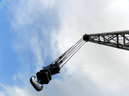 Crane, Perspective, Sky, Perspectives, Pulley, Hook