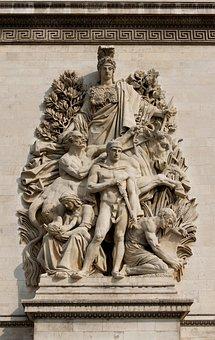 Arc, De, Triomphe, Peace, 1815, Antoine, Etex, Paris