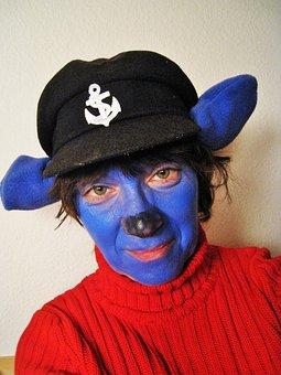 Carnival, Cap'n ' Bluebear, Dressed Up, Figure, Panel