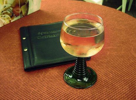 Glass, Wine Glass, Drink, Wine, White Liquid, Hard