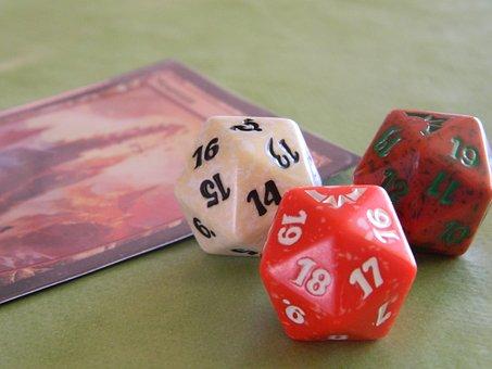 Game, Cubes, Cards, Collectors, Dvadsaťstenka, Figures