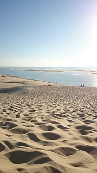 Seaside, Sea, Ocean, Arcachon, Landscape, France, Side