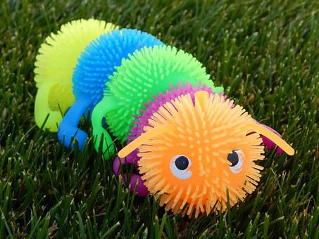 Caterpillar, Toy, Grass, Worm, Cute, Play, Animal
