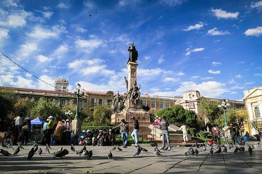 La Paz, Bolivia, Landmark, Monument, Statue, People