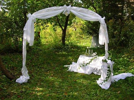 Wedding, Decoration, Garden, Bride, Marriage, Plein Air