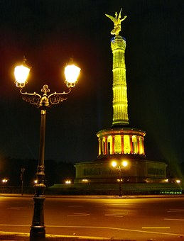 Peace Column, Berlin, Monument, City Of Lights, Germany