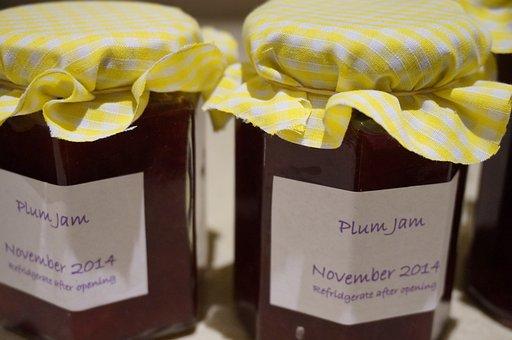 Jam, Jar, Plum, Homemade, Preserve, Jelly