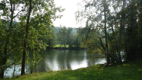 River, Water, Bank, Main, Nature, Sky, Reflections