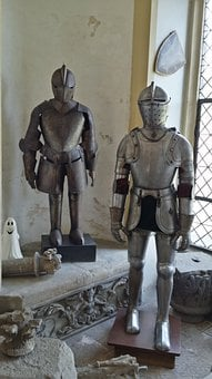 Ritterruestung, Armor, Castle, Rhine Stone, Middle Ages