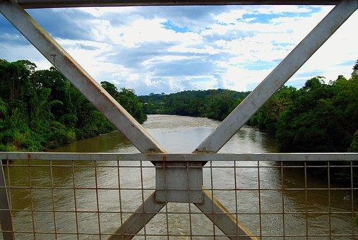 Amazon, Bridge, River, Sunset, Water, Landscape, Calm