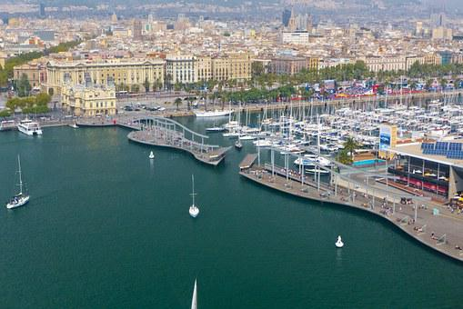 Barcelona, Spain, City, Sea, Port, Sailboats, Sailboat